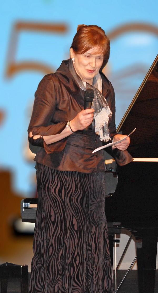Barbara Bakst, której zawdzięczmay organizację koncertu / fot. Magdalena Grzymkowska
