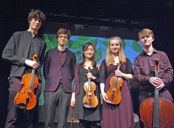 Młodzi muzycy z Zarębski Quintet / fot. Magdalena Grzymkowska