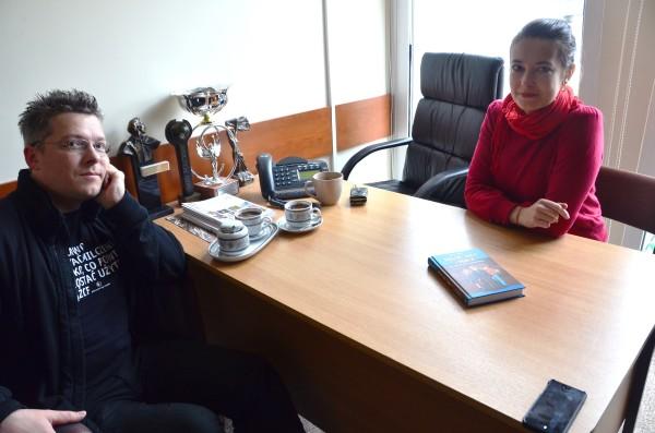 Rafał Kosik podczas wywiadu / fot. Katarzyna Kosik