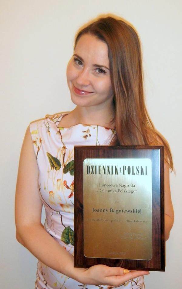 dr Bagniewska z nagrodą Dziennika